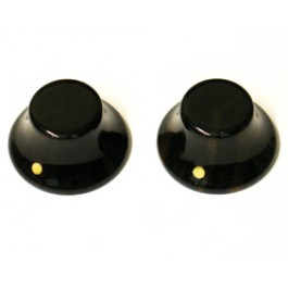 EBONY BELL KNOB SET OF 2