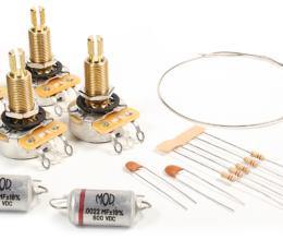 Deluxe Wiring Upgrade Kit - Long Bushing Les Paul