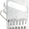 Artistic Engraved Modern Telecaster Bridge Chrome
