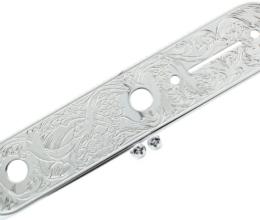 Artistic Engraved Telecaster Control Plate Chrome