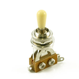 LP® METRIC TOGGLE SWITCH – CHROME / WHITE TIP