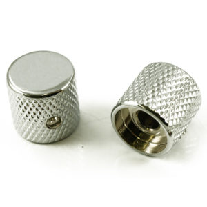TELE® KNOB ALUMINUM - CHROME PLATE - 1/4 IN. HOLE [SET OF 2]
