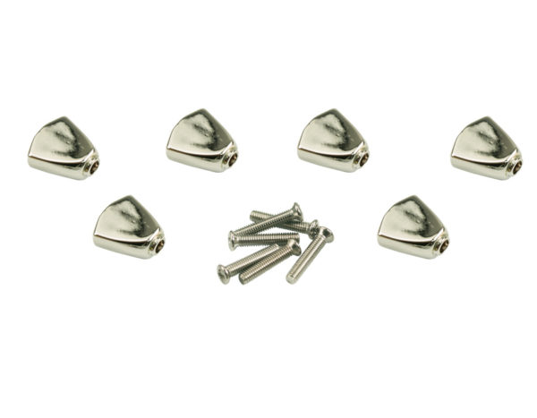 CONTEMPORARY SERIES BUTTONS CHROME (SET 6)