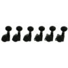 6 In Line Left Hand Locking Contemporary Diecast Series Tuning Machines Black
