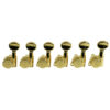 6 In Line Left Hand Locking Contemporary Diecast Series Tuning Machines Gold