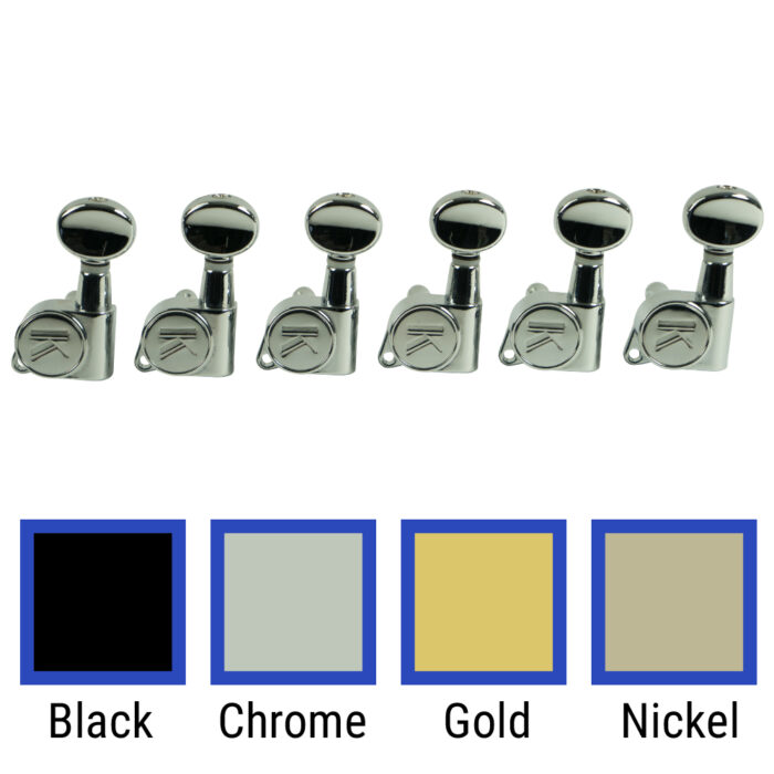 6 In Line Left Hand Contemporary Diecast Series Tuning Machines