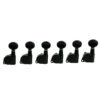 6 In Line Left Hand Contemporary Diecast Series Tuning Machines Black