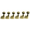 6 In Line Left Hand Contemporary Diecast Series Tuning Machines Gold