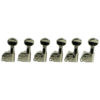 6 In Line Left Hand Contemporary Diecast Series Tuning Machines Nickel
