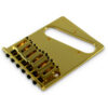 Contemporary Replacement Bridge For Left Hand Fender® Telecaster® With Brass Saddles Gold