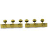 3 On A Plate Deluxe Series Tuning Machines For Lap Steel Guitar Gold