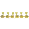 3 Per Side Locking Deluxe Series Tuning Machines - Double Line - Gold With Double Ring Plastic Keystone Buttons
