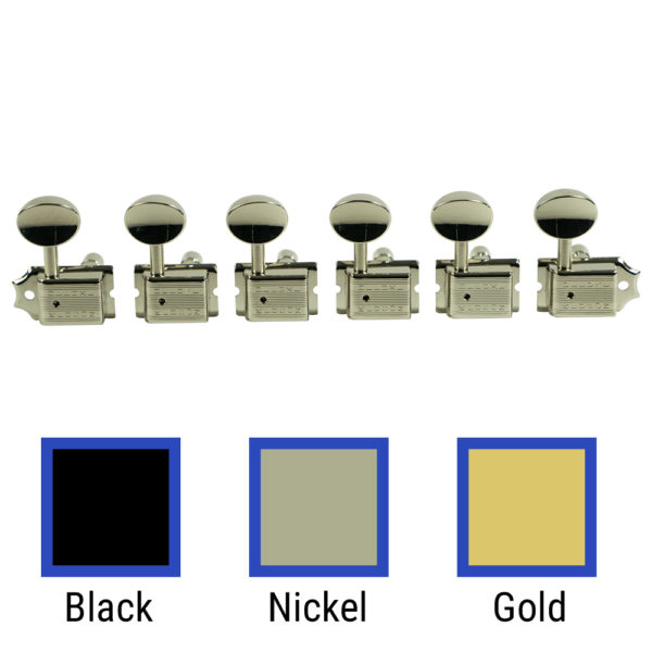 6 In Line Locking Deluxe Series Tuning Machines