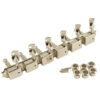 6 On A Plate Left Hand Deluxe Series Tuning Machines - Double Line - Nickel With Oval Metal Buttons