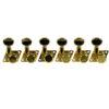 6 In Line Locking Revolution Series F-Mount Tuning Machines For Fender® Guitars Gold