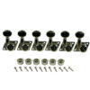 6 In Line Locking Revolution Series F-Mount Tuning Machines For Fender® Guitars Nickel