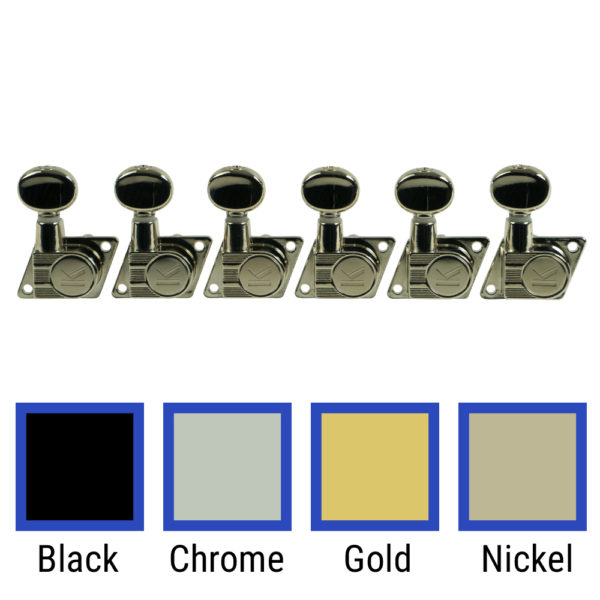 6 In Line Revolution Series F-Mount Tuning Machines For Fender® Guitars