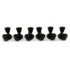 3 Per Side Locking Revolution Series G-Mount Non-Collared Tuning Machines Black With Metal Keystone Button
