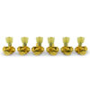 3 Per Side Locking Revolution Series G-Mount Non-Collared Tuning Machines Gold With Plastic Keystone Button