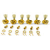 3 Per Side Locking Revolution Series G-Mount Tuning Machines Gold With Plastic Keystone Button