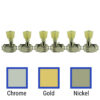 3 Per Side Revolution Series G-Mount Non-Collared Tuning Machines