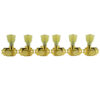 3 Per Side Revolution Series G-Mount Non-Collared Tuning Machines Gold With Plastic Keystone Button