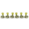 3 Per Side Revolution Series G-Mount Non-Collared Tuning Machines Nickel With Plastic Keystone Button