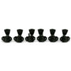3 Per Side Revolution Series G-Mount Tuning Machines Black With Metal Keystone Button