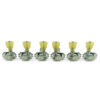 3 Per Side Revolution Series G-Mount Tuning Machines Chrome With Plastic Keystone Button