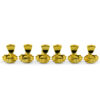 3 Per Side Revolution Series G-Mount Tuning Machines Gold With Metal Keystone Button