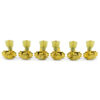 3 Per Side Revolution Series G-Mount Tuning Machines Gold With Plastic Keystone Button