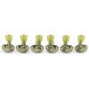 3 Per Side Revolution Series G-Mount Tuning Machines Nickel With Plastic Keystone Button