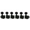 6 In Line Locking Revolution Series H-Mount Non-Collared Tuning Machines Black