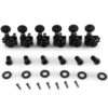 6 In Line Locking Revolution Series H-Mount Tuning Machines Black