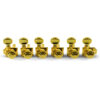 6 In Line Locking Revolution Series H-Mount Tuning Machines Gold