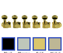 6 In Line Revolution Series H-Mount Non-Collared Tuning Machines