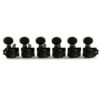 6 In Line Revolution Series H-Mount Non-Collared Tuning Machines Black