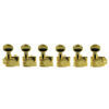 6 In Line Revolution Series H-Mount Non-Collared Tuning Machines Gold