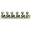 6 In Line Revolution Series H-Mount Non-Collared Tuning Machines Nickel