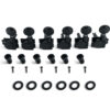 6 In Line Left Hand Revolution Series H-Mount Tuning Machines Black