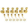 6 In Line Left Hand Revolution Series H-Mount Tuning Machines Gold