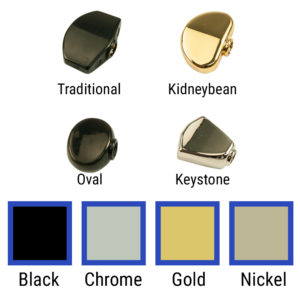 Replacement Button Set For Contemporary Diecast Series Tuning Machines