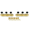 3 On A Plate Supreme Series Tuning Machines Gold With Black Plastic Button