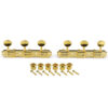 3 On A Plate Supreme Series Tuning Machines Gold With Metal Oval Button