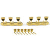 3 On A Plate Supreme Series Tuning Machines Gold With Metal Keystone Button