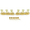 3 On A Plate Supreme Series Tuning Machines Gold With Plastic Keystone Button