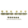 3 On A Plate Supreme Series Tuning Machines Nickel With White Plastic Button