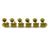 6 In Line Supreme Series Tuning Machines Gold With Metal Oval Button - Staggered Post