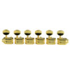 6 In Line Supreme Series Tuning Machines Gold With Metal Oval Button - Standard Post