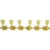 3 Per Side Vintage Diecast Series Waffleback/Super Tuning Machines Gold With Plastic Keystone Buttons